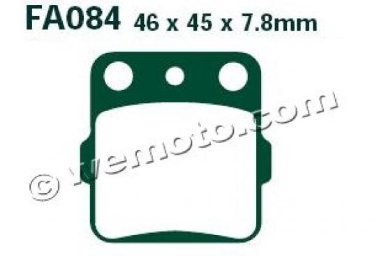 Honda CR 85 R5 05 Pads Front EBC Sintered (GG Type)