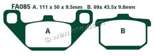 Kawasaki VN 800 A3/A4 97-98 Brake Pads Front EBC Standard (GG Type)