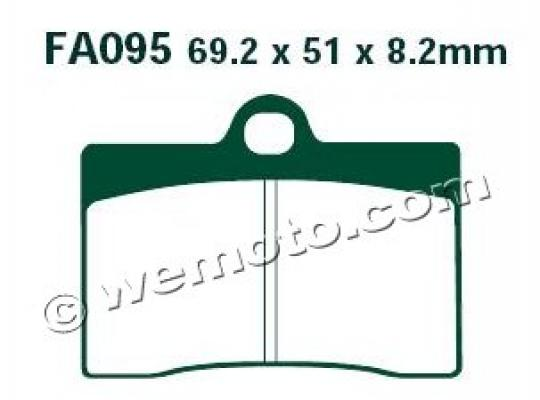 VOR SM-E 530 (530cc) 03-04 Brake Pads Front EBC Sintered (HH Type)