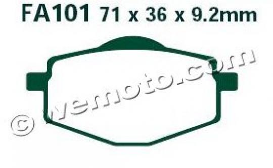 Yamaha DT 125 R 89 Pads Front EBC Standard (GG Type)