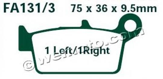 Honda NH 90 M/P/R Lead / Yuppy (import) 91-94 Pads Front EBC Standard (GG Type)