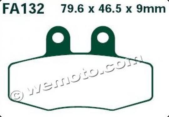 KTM MX 125 88 Brzdové destičky EBC standard (GG) - přední
