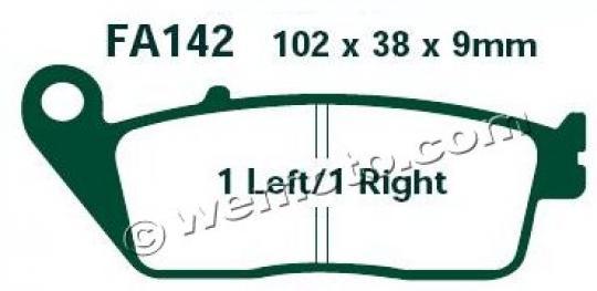 Daelim Roadsport 250 (VJF 250) 13 Brzdové destičky EBC standard (GG) - přední