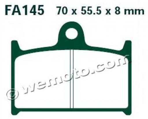 Suzuki GSXR 750 M Slingshot 91 Brake Pads Front EBC Standard (GG Type)