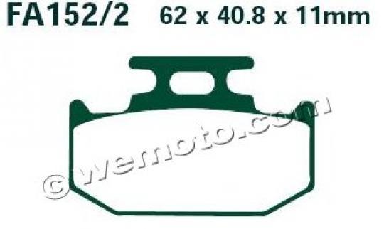 Suzuki RM 250 P 93 Pastillas de Freno Traseras EBC (Tipo GG)