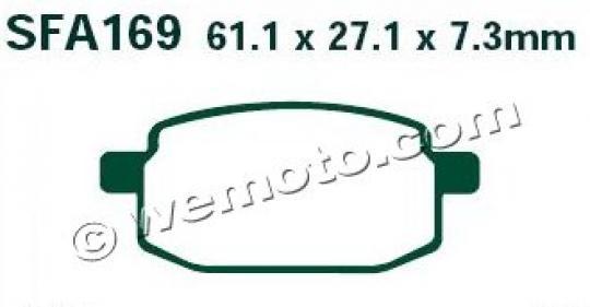 Terra Moto TDX F (125cc) 07 Pastiglie Freni Posteriori EBC Standard (Tipo GG)