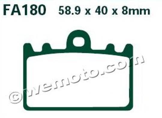 Suzuki RGV 250 T (RGVR 250 SP VJ23A) 96 Brake Pads Front EBC Sintered (HH Type)