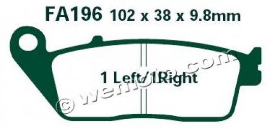 Daelim Roadwin R 125 Fi 08-09 Brzdové destičky EBC sintrované (HH) - přední