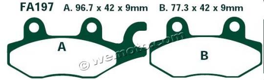 Daelim Roadsport 250 (VJF 250) 11 Brzdové destičky EBC standard (GG) -  zadní