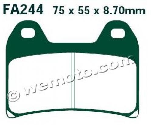 MV (Agusta) F3 675 12-13 Brzdové destičky EBC sintrované (HH) - přední