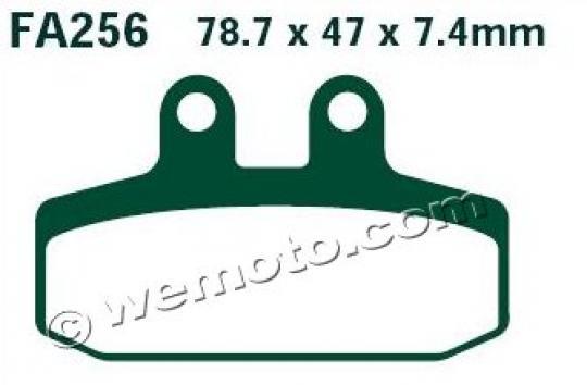 Moto Guzzi V7 II Special 16 Pastiglie Freni Posteriori EBC Sinterizzate (Tipo HH)