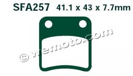 Daelim S1 125 11-12 Brzdové destičky EBC standard (GG) -  zadní