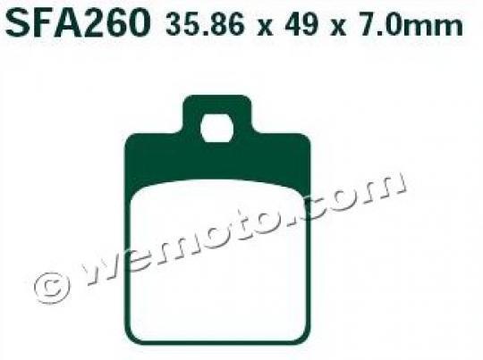 Piaggio Vespa S 125 ie 11-13 Brzdové destičky EBC standard (GG) - přední