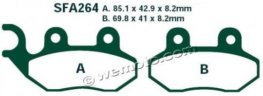 TGB 202 Classic (49cc) 03-09 Plaquettes de Frein EBC Standard ( Type GG )