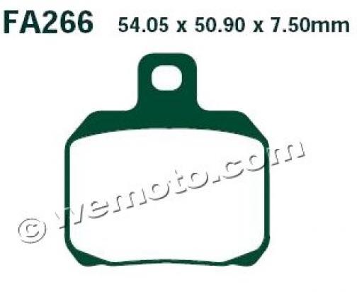 Derbi GP1 125 08 Brzdové destičky EBC standard (GG) -  zadní