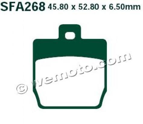 MBK Nitro 50 10 Pastiglie Freni Posteriori EBC Standard (Tipo GG)