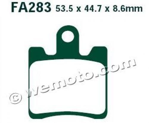 Daelim S1 125 11-12 Brzdové destičky EBC standard (GG) - přední