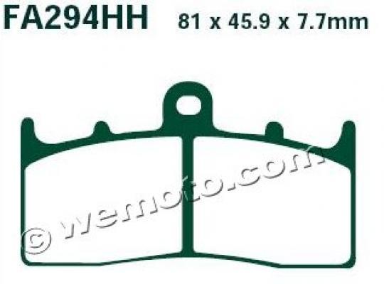 BMW R 1200 R (K27) (41mm Forks) 08-09 Brzdové destičky EBC sintrované (HH) - přední