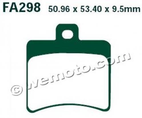 TGB Bellavita 300i 12-14 Plaquettes de Frein Arrière EBC Standard (Type GG)