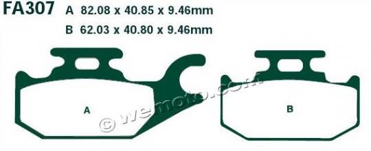 CAN AM Outlander 400 EFI 12 Brake Pads Front Left EBC Standard (GG Type)