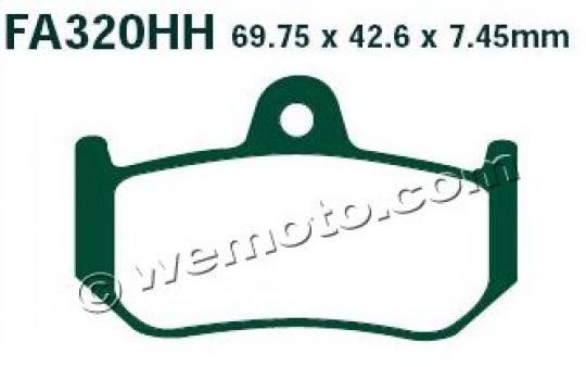 MV (Agusta) Brutale 1090 RR 11 Brzdové destičky EBC sintrované (HH) -  zadní
