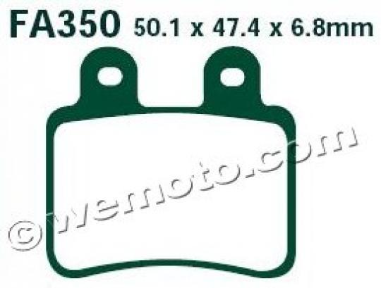Rieju NKD 50 07 Brzdové destičky EBC standard (GG) -  zadní