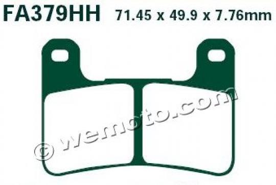 Suzuki GSXR 600 K4/K5 04-05 Brake Pads Front EBC Sintered (HH Type)