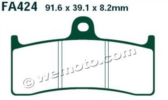 MV (Agusta) Brutale 750 Oro (Nissin Calipers) 03-04 Brzdové destičky EBC standard (GG) - přední