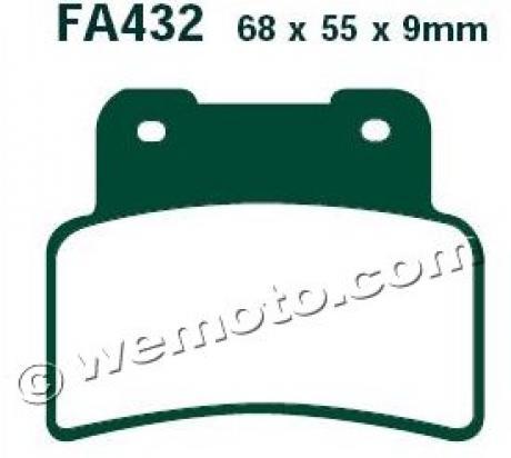 Aprilia Mana 850 GT 13 Plaquettes de Frein Avant EBC Standard (Type GG)