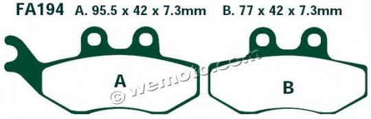 Derbi GP1 50 10 Brzdové destičky EBC standard (GG) - přední