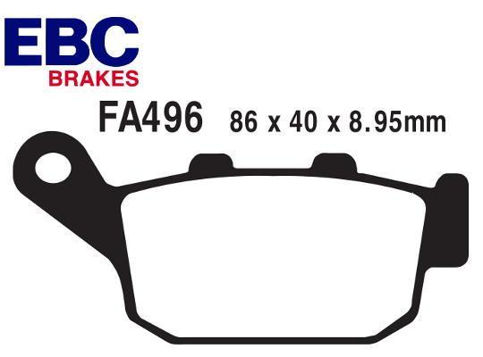 Honda CBR 300 RJ (Non-ABS) 18 Pastiglie Freni Posteriori EBC Standard (Tipo GG)