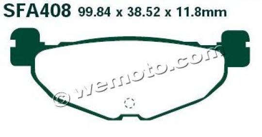 Yamaha CP 250 (1B71) Maxam/Morphus 05-08 Задні колодки EBC Sintered (металізовані) — тип HH