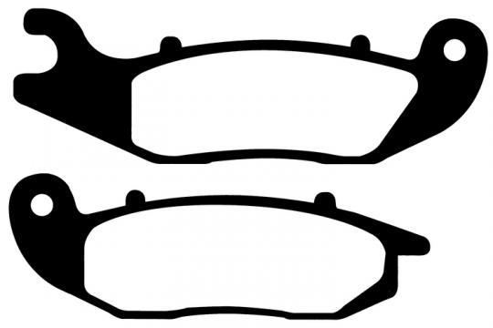 Derbi Terra Adventure 125 08-09 Pastillas de Freno Delanteras EBC Estándar (Tipo GG)