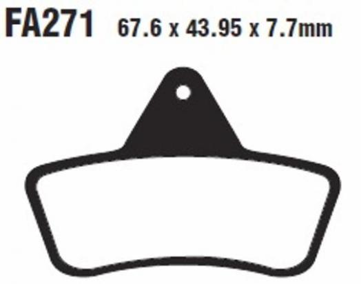 Arctic Cat 500 (4x4/4x4 Auto) (All Models) 98-04 Plaquettes de Frein Avant EBC Métal Fritté (Type GG)