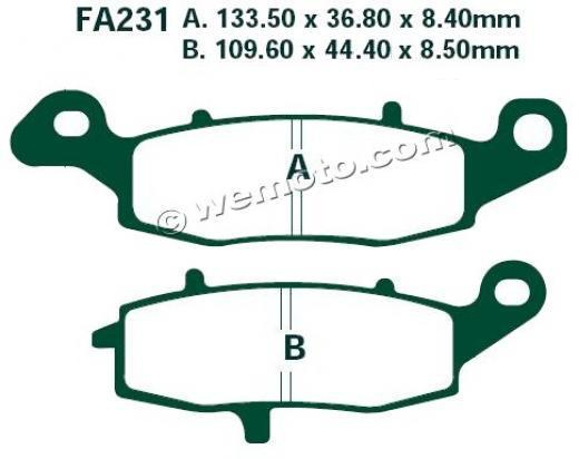 Suzuki GSX 600 F W/X/Y 98-00 Brake Pads Front Right EBC Sintered (HH Type)