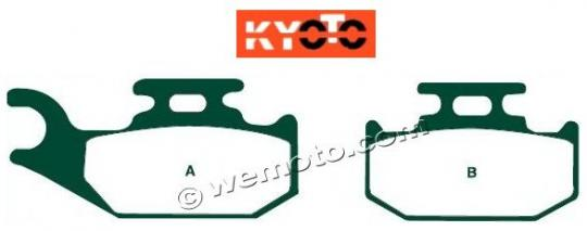 CAN AM Outlander 400 EFI 12 Brake Pads Front Right Kyoto Standard (GG Type)