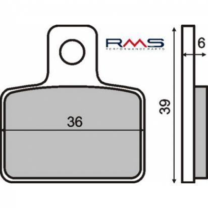 Gas-Gas TXT 80 Cadet 07-09 Brzdové destičky standard (GG) - zadní