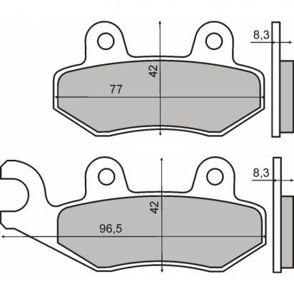 Keeway Logik 150 14 Brzdové destičky standard (GG) - přední