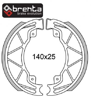 Aprilia Scarabeo 50 Street (2T) (TH00/THE00) 05-08 Brake Shoes Rear Brenta