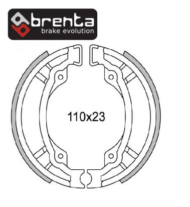 TGB High Wheel 50 (50cc) 02-03 Machoires de Frein BRENTA