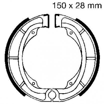 Kawasaki KX 250 A6-7 80-82 Brake Shoes Rear EBC Standard