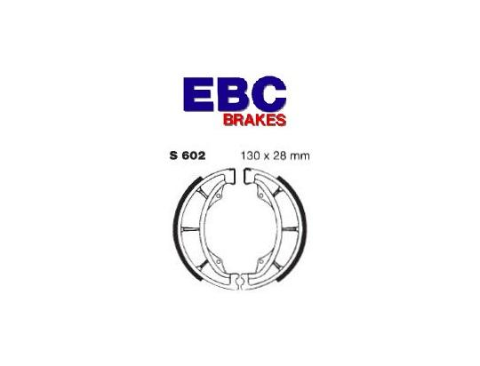 Suzuki TS 100 ERN 79 Brake Shoes Front EBC Grooved