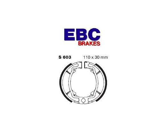 Kawasaki AE 50 A1/A2 81-82 Brake Shoes Rear EBC Grooved