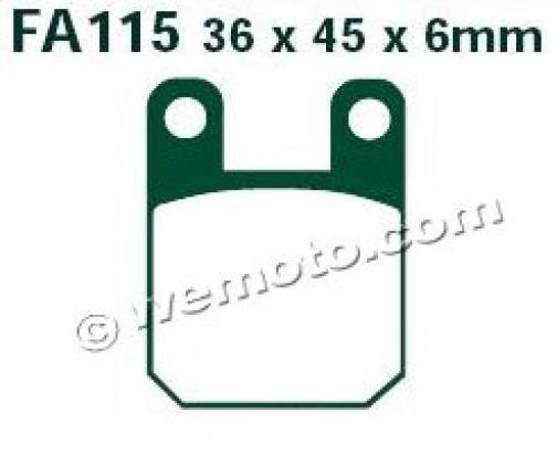 Derbi GP1 50 04 Brzdové destičky EBC standard (GG) -  zadní