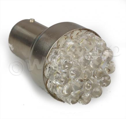 bulb ba15s 12v led clear replaces 12v 18w to 12v 21w. Black Bedroom Furniture Sets. Home Design Ideas