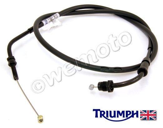 triumph bonneville t100 10 throttle cable b (push) genuine