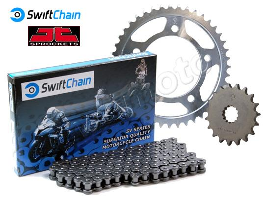 Kawasaki KLX 450 R (A8F/A9F) 08-09 Swift Heavy Duty O-Ring Chain and JT Sprocket Kit
