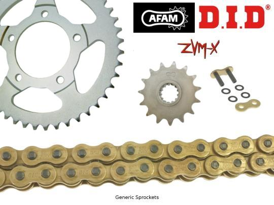 Kawasaki KLE 500 A1 91 DID ZVM-X Super Heavy Duty X-Ring Gold Chain and Afam Sprocket Kit