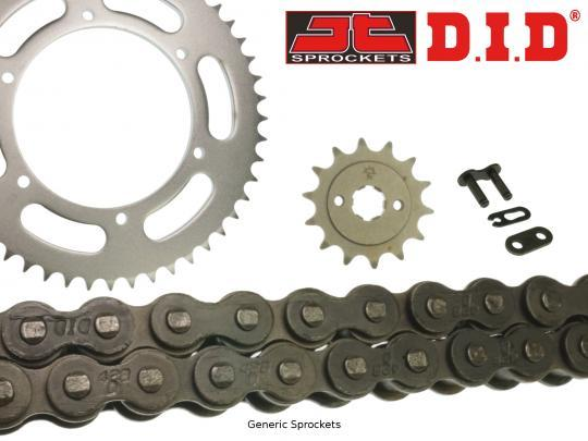 Suzuki DS 80 D/F/G/H/J/K/L/M 82-91 DID Heavy Duty Chain and JT Sprocket Kit