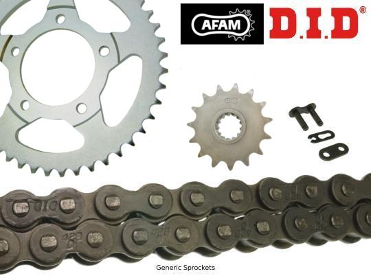 Kawasaki KLX 125 L (B1/B2/B3) 03-05 DID Heavy Duty Chain and Afam Sprocket Kit